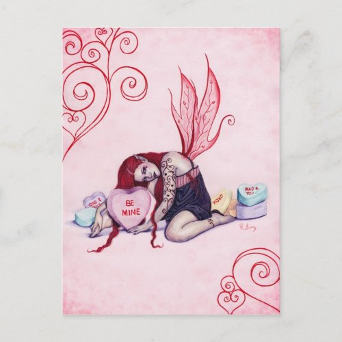 Candy Hearts Valentine's Day Fairy Postcard
