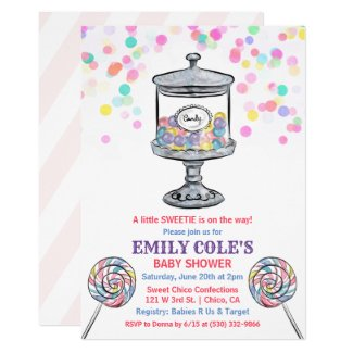 Candy Jar Sweet Baby Shower Invitation