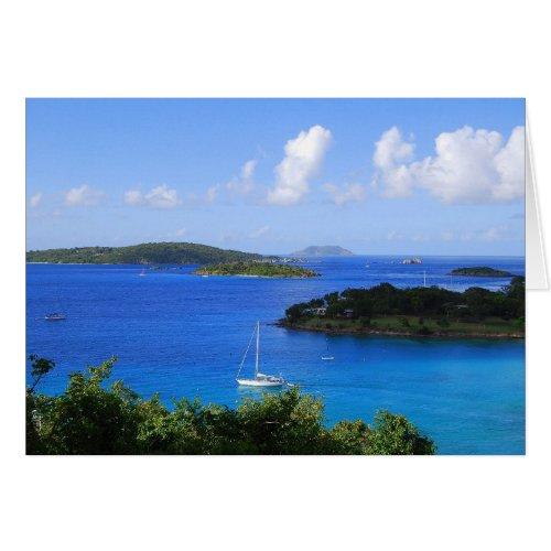 Caneel Bay, St. John, U.S. Virgin Islands Greeting Card
