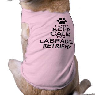 Can't Keep Calm Labrador Retriever Dog Dog Tee Shirt
