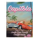 Capitola California Vintage travel poster