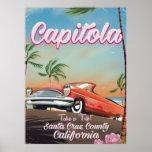 Capitola California Vintage travel poster
