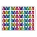 Card - Cute Rainbow Matryoshka Owl card