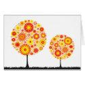 Card - Flower Wishing Tree Orange card
