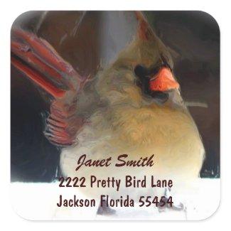 Cardinal Address Sticker sticker