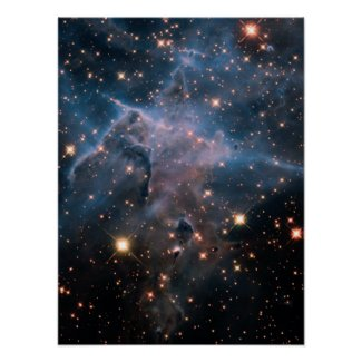 Carina's 'Mystic Mountain' in Infrared Poster Print