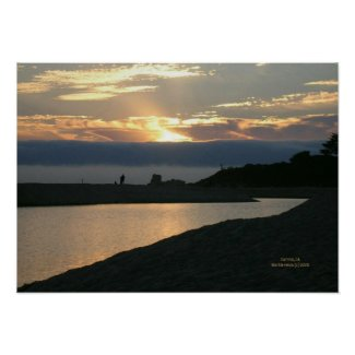 Carmel Sunset Couple Print - Select Your Frame print