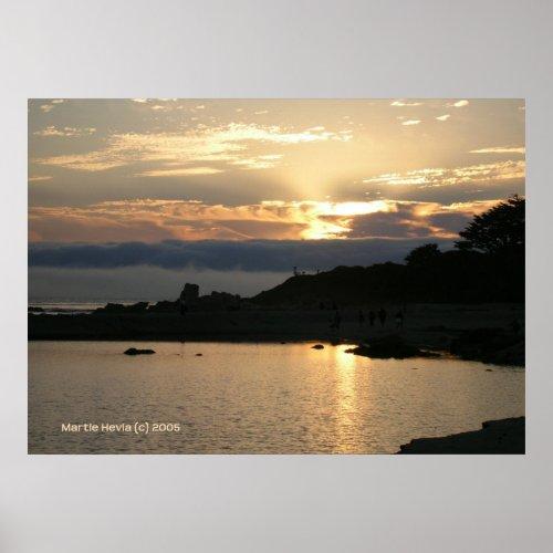 Carmel Sunset in Gold print