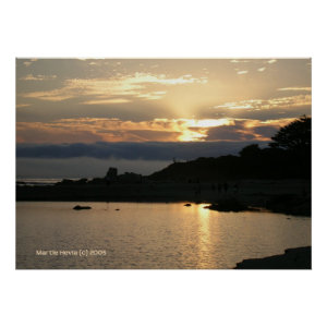 Carmel Sunset in Gold Poster