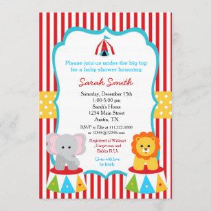 circus theme invitations zazzle
