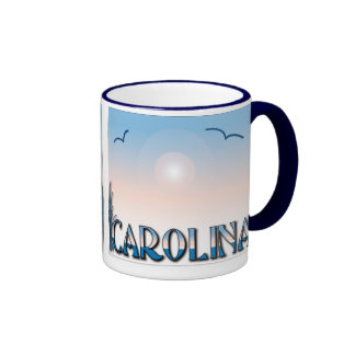 Carolina Beaches at Sunset Coffee Mugs