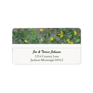 Carolina Jasmine Address Labels