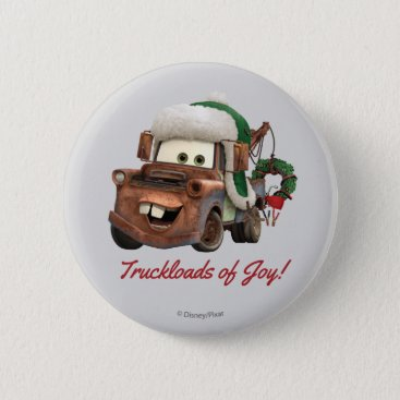 Cars | Mater In Winter Gear Button