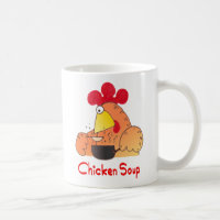Cartoon Chicken Mug | Funny Chicken Soup Mug