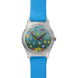 Cartoon Fish Underwater Wristwatch