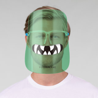 Cartoon Monster Mouth | Green Face Shield