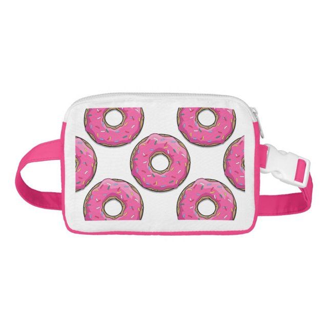 Cartoon Pink Donut With Sprinkles Fanny Pack