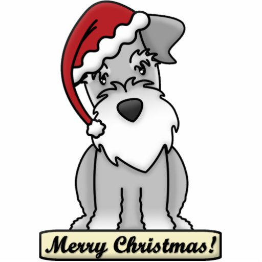 Cartoon Schnauzer Christmas Ornament Zazzle