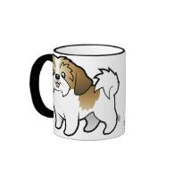 Cartoon Shih Tzu (puppy cut) Mugs