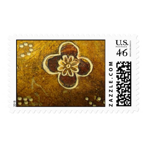 Carved Wood Flower - Postage stamp