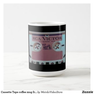 Cassette Tape coffee mug from from Weirdo Video
