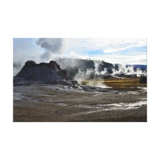 Castle Geyser and Upper Geyser Basin, Yellowstone Gallery Wrapped Canvas