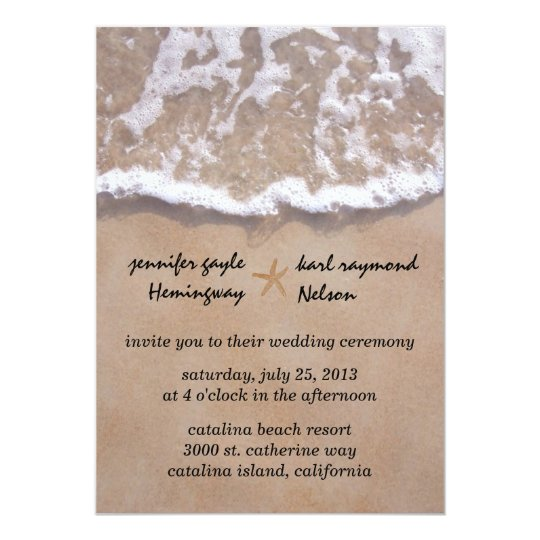 Design And Write The Diy Beach Themed Wedding Invitations