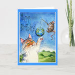 Cat and mouse funny birthday card