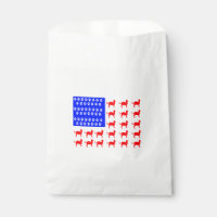Cat and Paw Flag Favor Bag