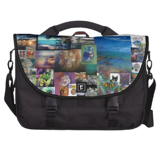 Cat Byrd Lion Paradise Coolio Collage messengerbag