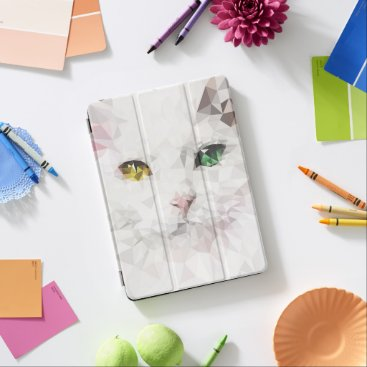 Cat Eyes - Abstract Low Poly digital Illustration iPad Air Cover