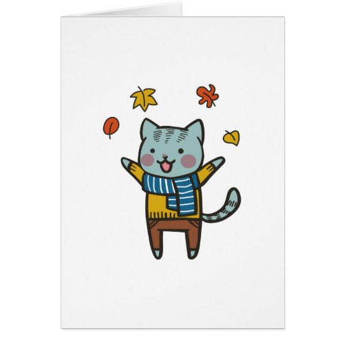 Cat In Autumn