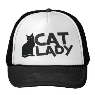 Cat Lady Black Cat Hat