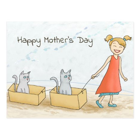 Cat Mom Happy Mother's Day Postcard