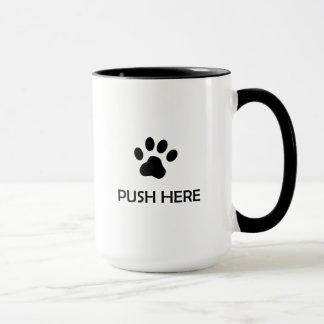 Cat Push Here Mug