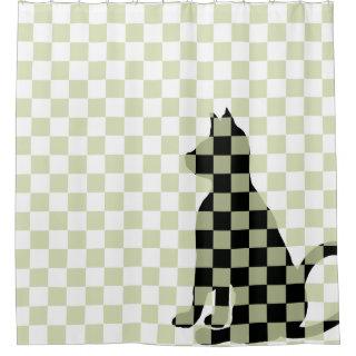Cat Shadow Black Cats Fun Cute Funny CricketDiane Shower Curtain