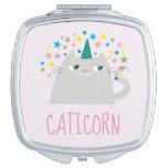 ❤️ Cute Caticorn & Stars Compact Mirror