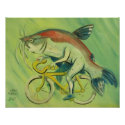 Catfish on a Bicycle Print