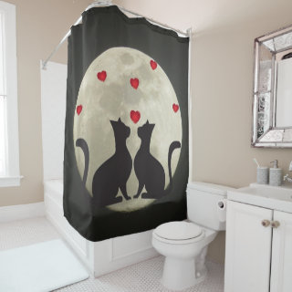 Cats 0n The Moon Shower Curtain