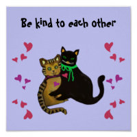 Cats Kindness Saying Poster
