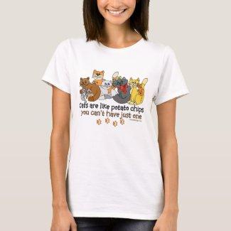 Cats like potato chips Humor T-Shirt