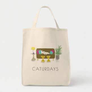 'CATURDAYS' Grocery Tote