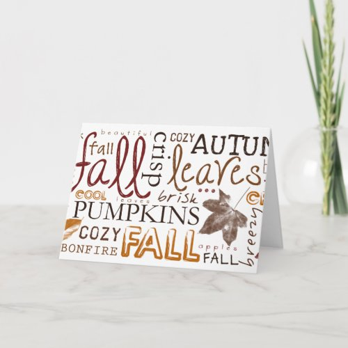 Celebrate Autumn Thanksgiving greetings Holiday Card