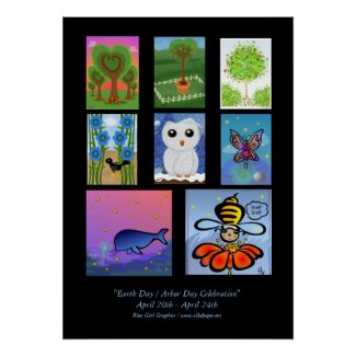 Celebrate Earth Day / Arbor Day Poster print