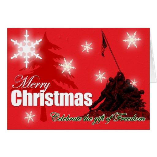 Celebrate Freedom Military Christmas Card Zazzle