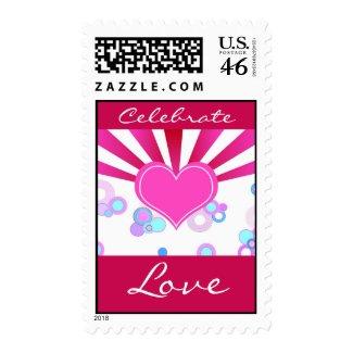 Celebrate Love - Postage stamp