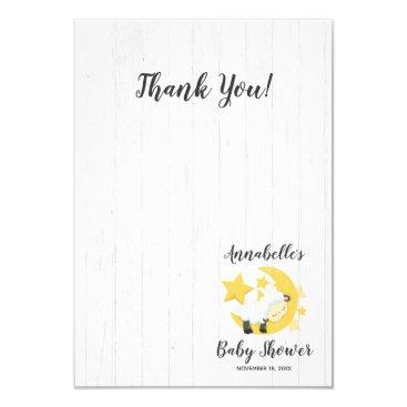 Celestial Moon Stars & Lamb Baby Shower Thank You Card