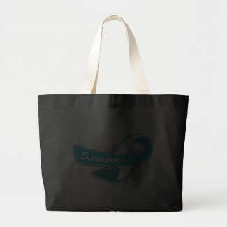 Cervical Cancer Survivor Ribbon bag