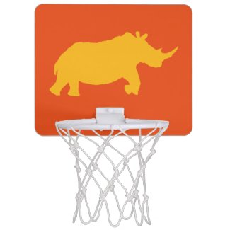 Ch-ch-charge! Rhino Basketball Mini Basketball Backboard