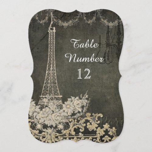 Chalk Vintage Parisian Reception Table Number